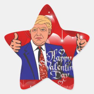 Adesivo Estrela dia dos namorados Donald Trump