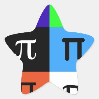 Adesivo Estrela dia feliz do pi do colorblock