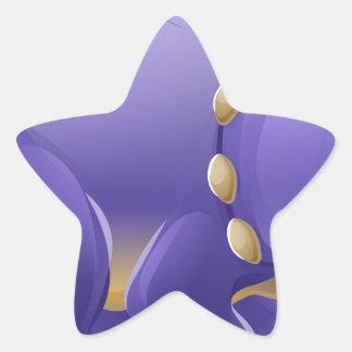 Adesivo Estrela Dinossauro bonito dos desenhos animados do