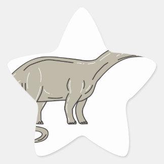 Adesivo Estrela Dinossauro do Brontosaurus que olha abaixo da mono