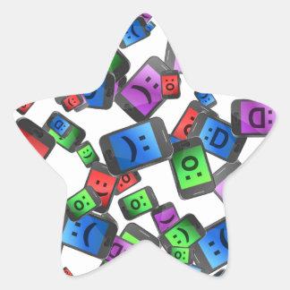 Adesivo Estrela Divertimento da telecomunicação