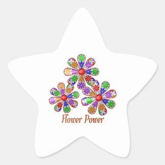 Adesivo Estrela Divertimento flower power