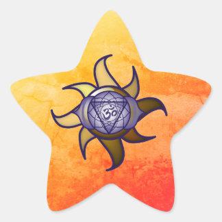 """Adesivo Estrela Do """"etiqueta de Lotus da introspecção da ioga"""