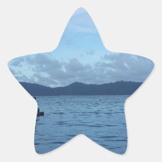 Adesivo Estrela Doca do barco da ilha
