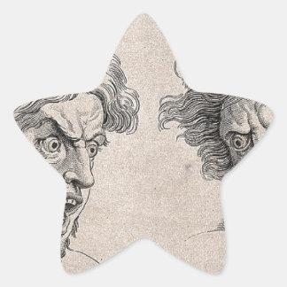 Adesivo Estrela Dois desenhos das caras irritadas