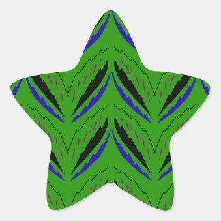 Adesivo Estrela Eco verde dos elementos do design