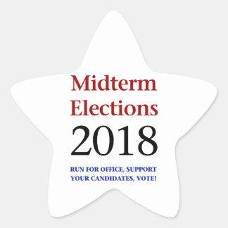 Adesivo Estrela Eleições Midterm 2018
