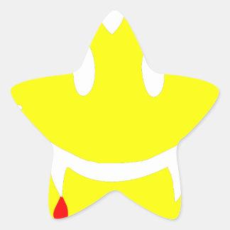 Adesivo Estrela emoji dracula do vampiro