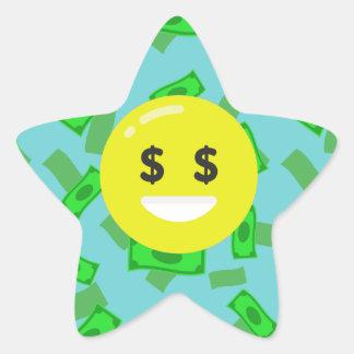 Adesivo Estrela emoji eyed dinheiro