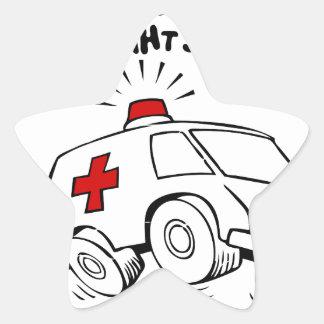 Adesivo Estrela emt do paramédico