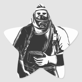 Adesivo Estrela EMT que veste o terno Scratchboard de Hazmat