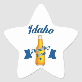 Adesivo Estrela Equipe do bebendo de Idaho