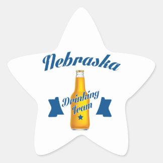 Adesivo Estrela Equipe do bebendo de Nebraska