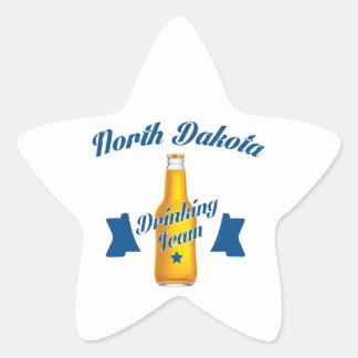 Adesivo Estrela Equipe do bebendo de North Dakota
