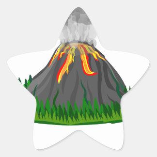 Adesivo Estrela erupção e fogo do vulcão