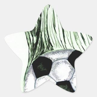 Adesivo Estrela Esboço 4 da bola de futebol