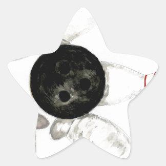 Adesivo Estrela Esboço da bola de boliche