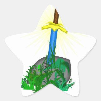 Adesivo Estrela Espada na pedra