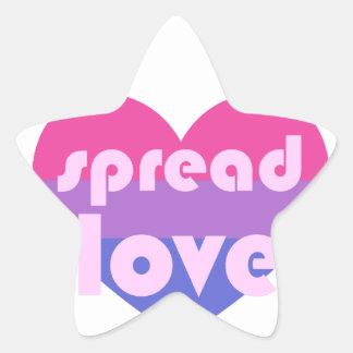 Adesivo Estrela Espalhe o amor bissexual