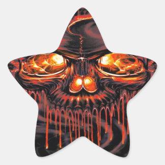 Adesivo Estrela Esqueletos vermelhos sangrentos