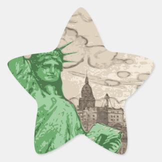 Adesivo Estrela Estátua da liberdade clássica