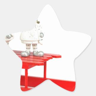 Adesivo Estrela Estatuetas do Natal das crianças no trenó vermelho