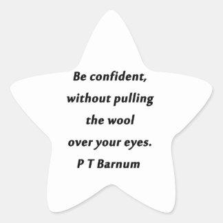 Adesivo Estrela Esteja seguro - P T Barnum