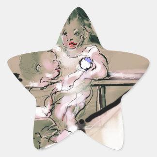 Adesivo Estrela Estilo do vintage da captura da ucha