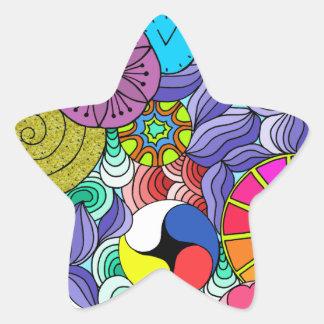 Adesivo Estrela Estrela da mandala da terra