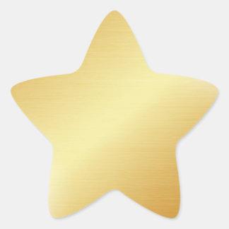 Adesivo Estrela Estrela do ouro
