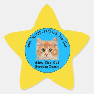 Adesivo Estrela Estrela do ouro de Alex_The_Cat