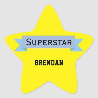 Adesivo Estrela Estrela mundial com nome