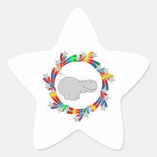 Adesivo Estrela Estrelas do hipopótamo