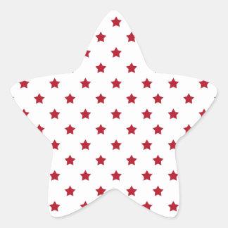 Adesivo Estrela Estrelas vermelhas no branco