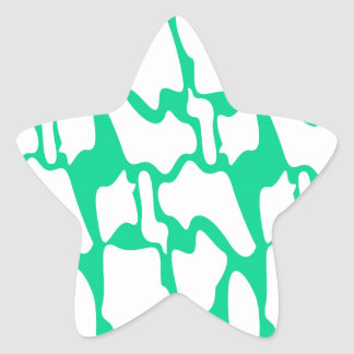 Adesivo Estrela Ethno do eco dos elementos do design no branco