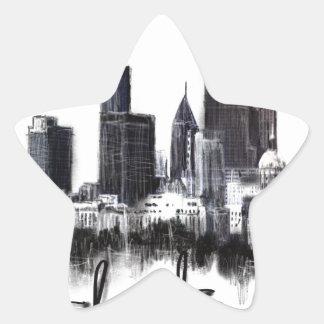 Adesivo Estrela Eu amo Atlanta