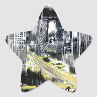 Adesivo Estrela Eu amo Beijing