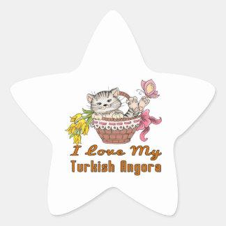 Adesivo Estrela Eu amo meu angora turco