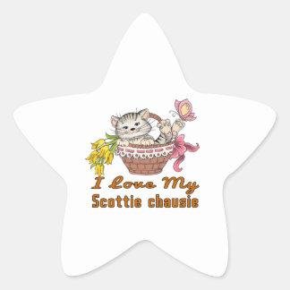 Adesivo Estrela Eu amo meu chausie do Scottie