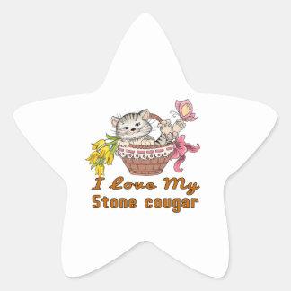 Adesivo Estrela Eu amo meu puma de pedra