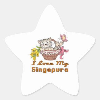 Adesivo Estrela Eu amo meu Singapura