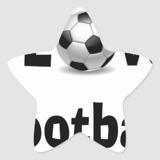 Adesivo Estrela Eu amo o futebol