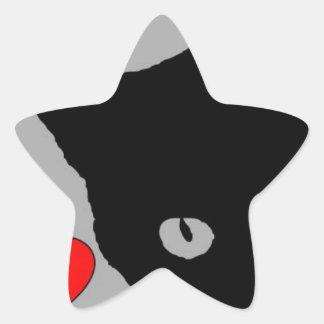 Adesivo Estrela EU AMO o texto feliz do divertimento do TSHIRT dos