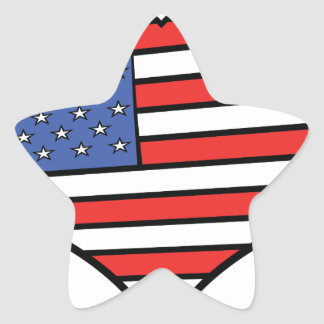 Adesivo Estrela Eu amo orgulho de América - os Estados Unidos da