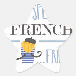 Adesivo Estrela Eu falo o francês… Fritadas