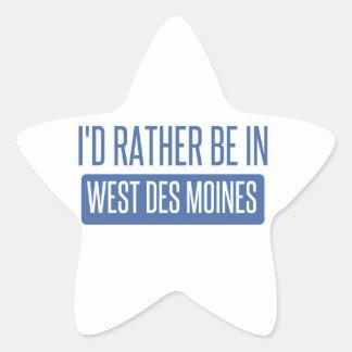 Adesivo Estrela Eu preferencialmente estaria em Des Moines