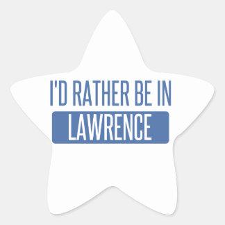 Adesivo Estrela Eu preferencialmente estaria em Lawrence DENTRO
