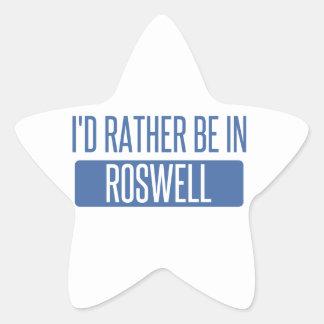 Adesivo Estrela Eu preferencialmente estaria em Roswell nanômetro