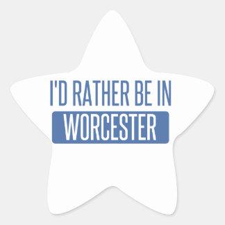 Adesivo Estrela Eu preferencialmente estaria em Worcester