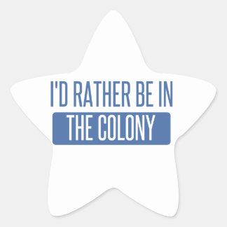 Adesivo Estrela Eu preferencialmente estaria na colônia